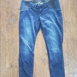 Dark Wash Ankle Length Maternity Jeans
